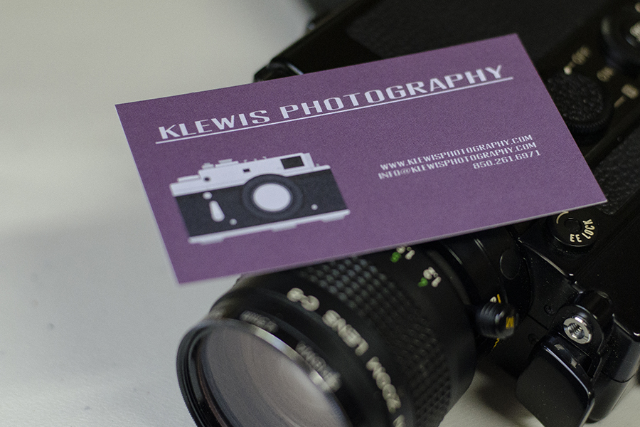 pensacola photography business cards