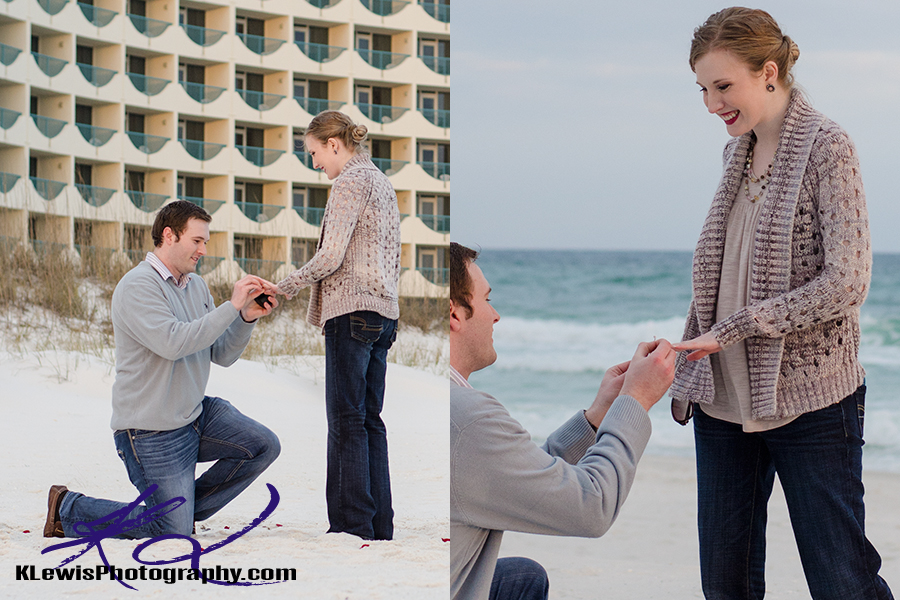 pensacola beach wedding proposal photographer
