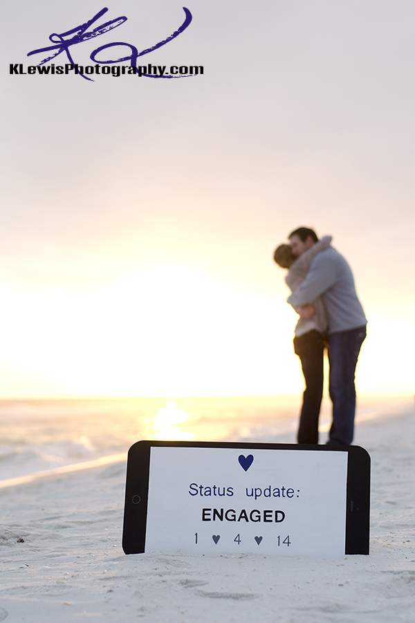 pensacola beach fl wedding proposal photography