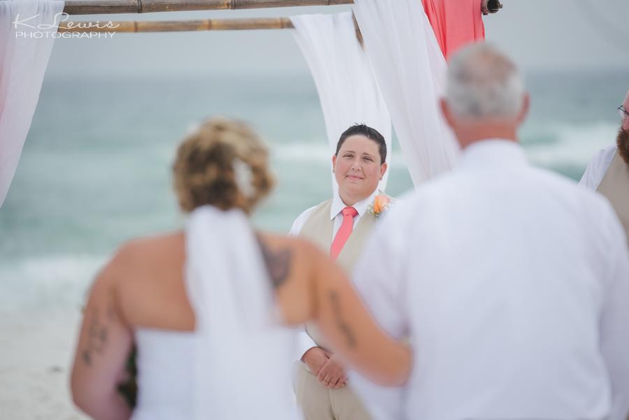 pensacola beach wedding ceremony photos