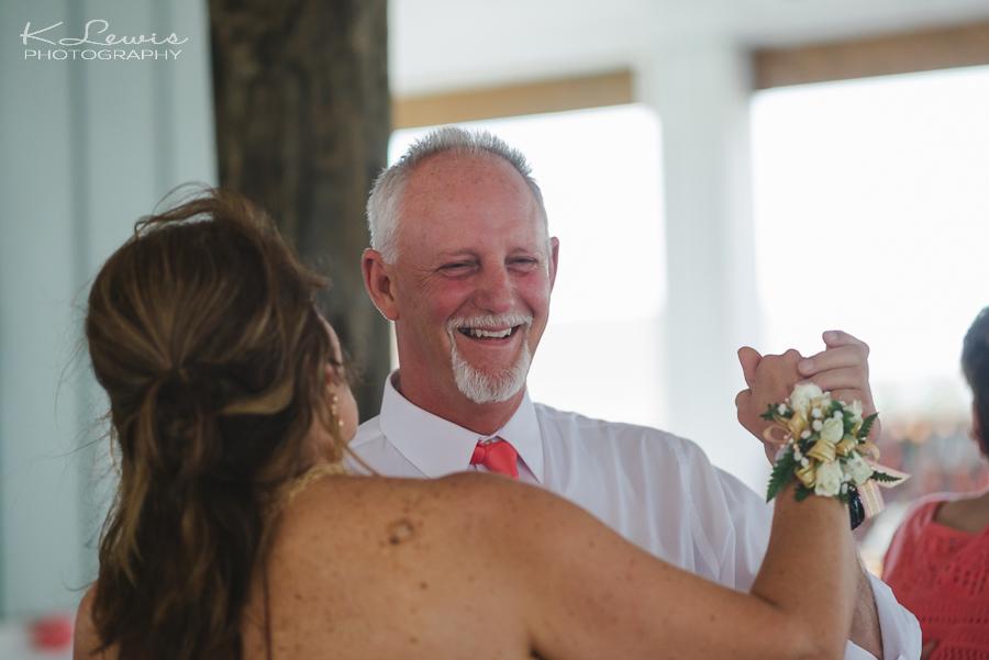 pensacola beach wedding reception photography