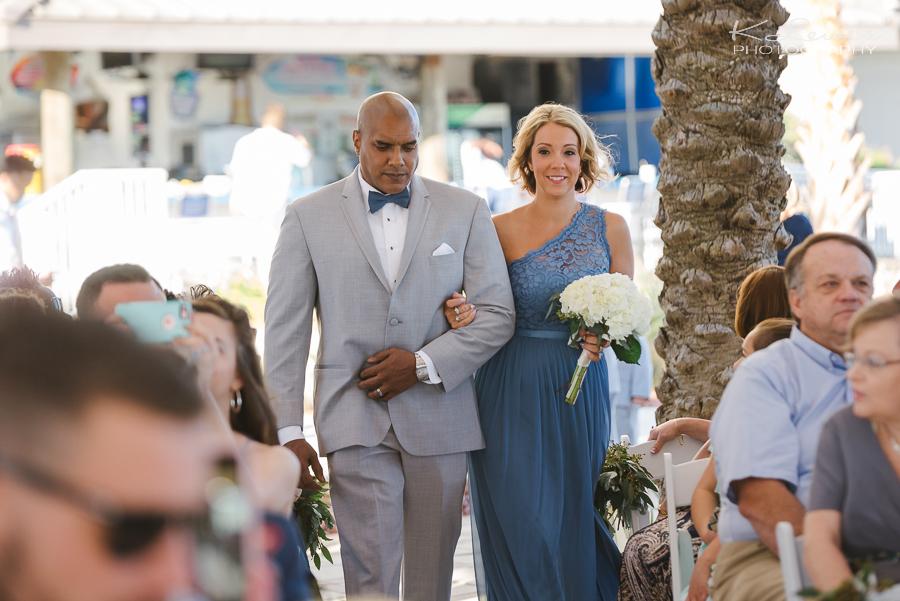 pensacola beach hilton wedding ceremony photos