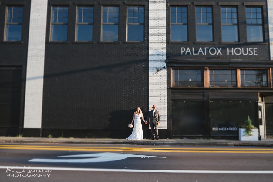 downtown pensacola fl wedding photographer