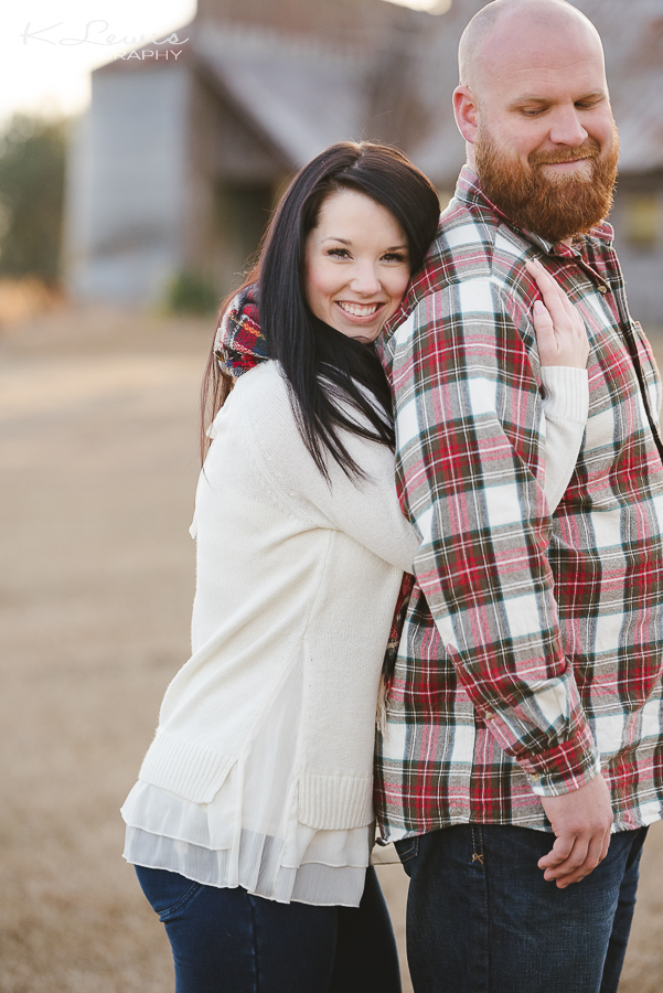 pensacola woodsy engagement photo