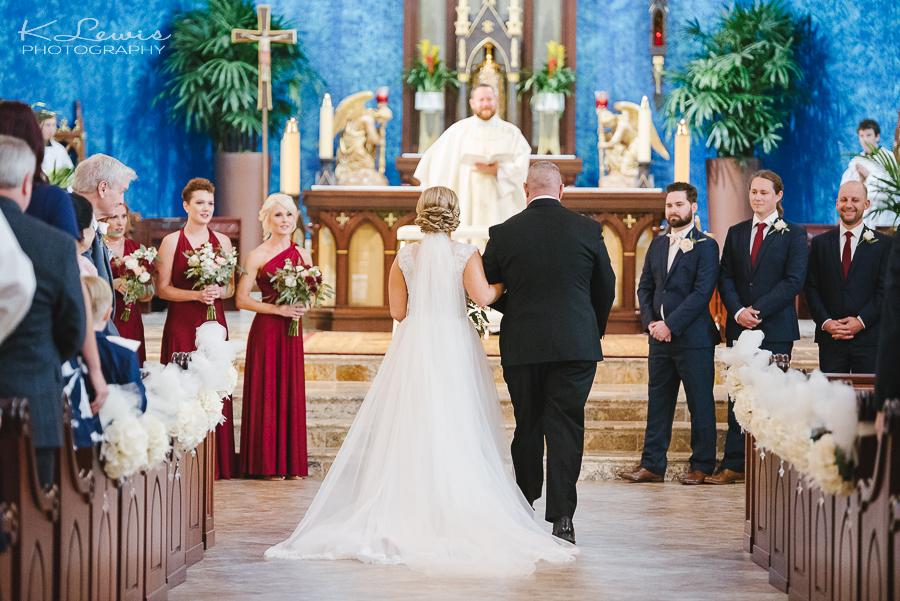 pensacola wedding ceremony photography st paul catholic church