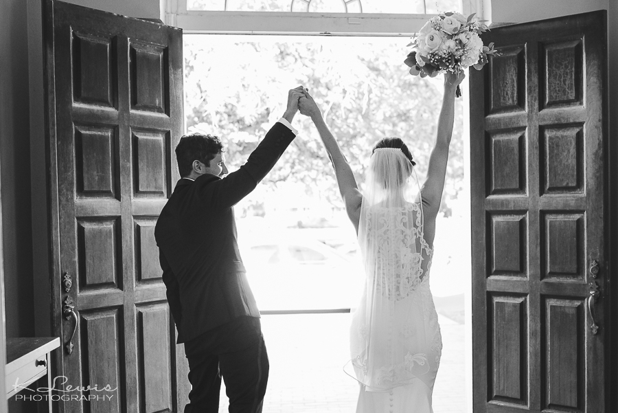 pensacola old christ church wedding ceremony photo