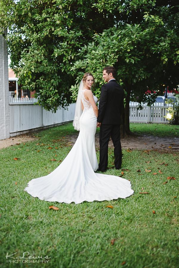 downtown pensacola wedding photo