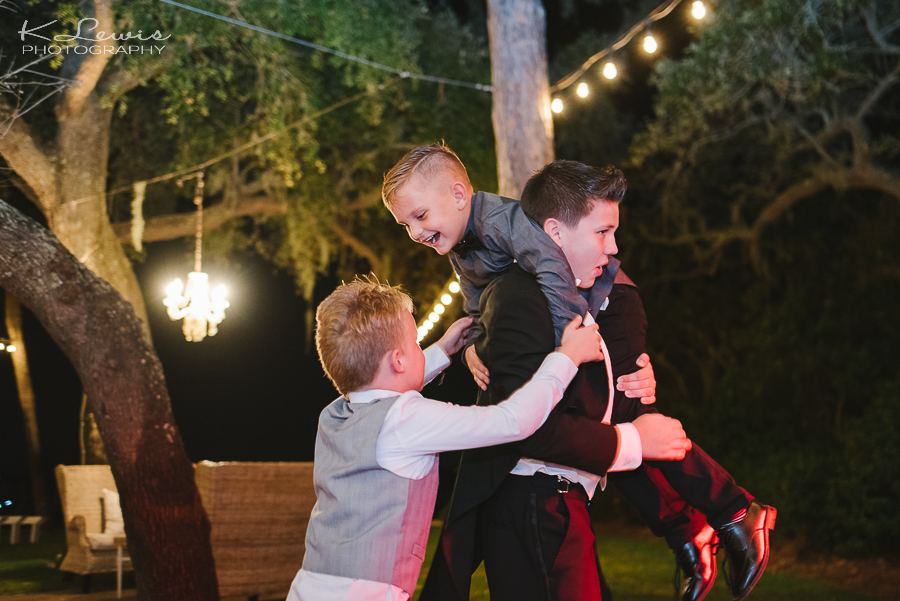 wedding reception photos at destin bay house