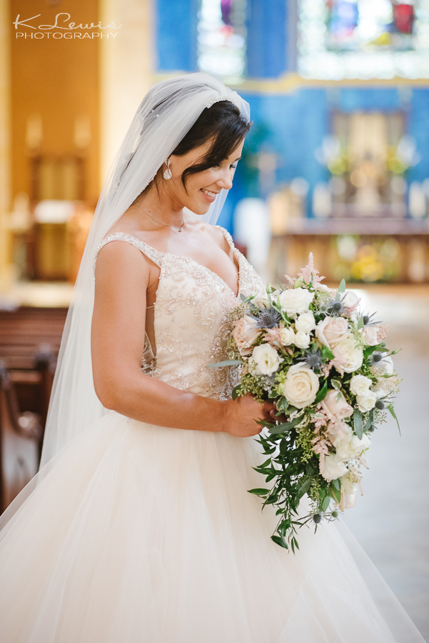 wedding photographer at pensacola st paul catholic church
