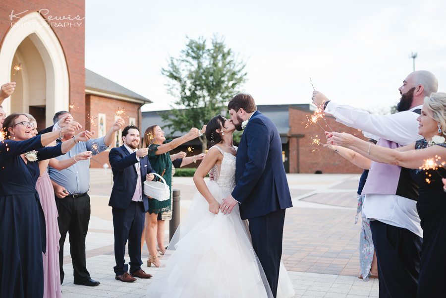 st paul catholic church Pensacola wedding reception photographer