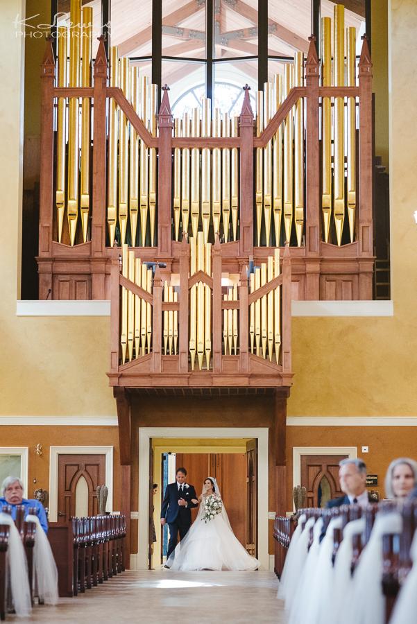 st paul catholic church Pensacola wedding ceremony photos