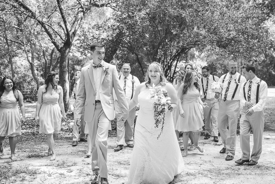 wedding photos at west florida baptist church in milton