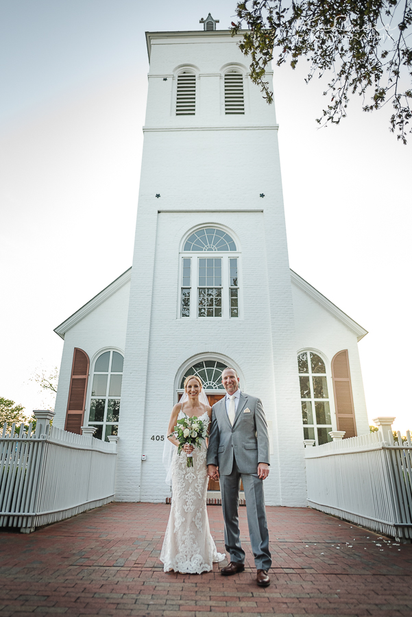 pensacola wedding photos at old christ church
