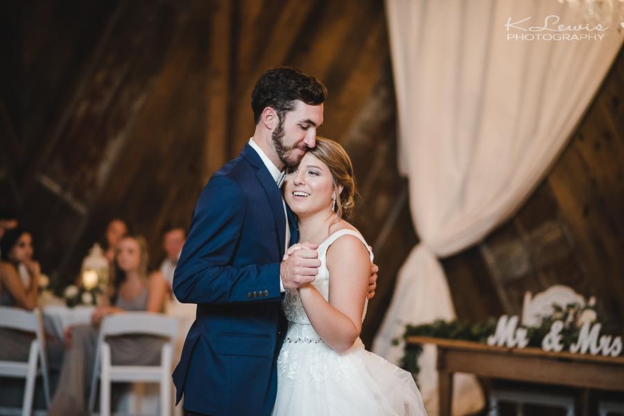 the barn at water oaks wedding reception photos