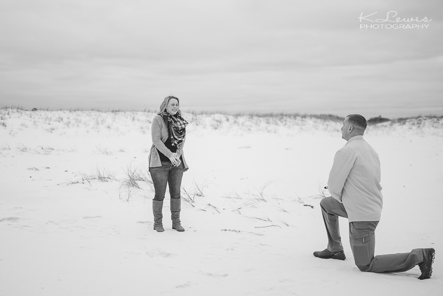 pensacola beach surprise proposal photographer