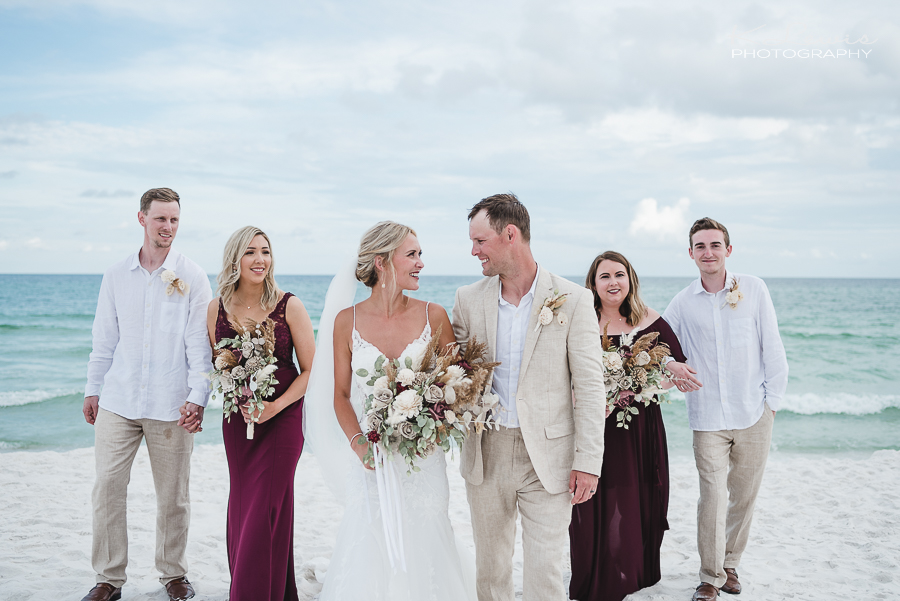 beach wedding photos in pensacola beach